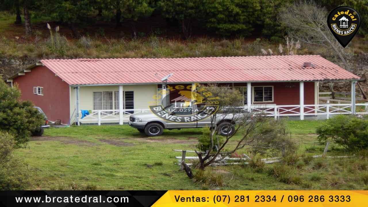 Quinta Hacienda de Venta en Cuenca Ecuador sector La Jarata - Vía a Loja