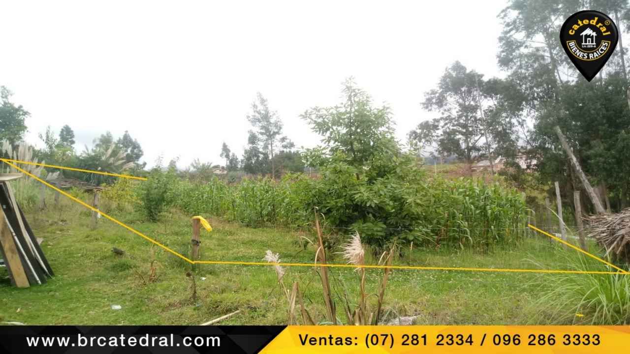 Land for Sale in Cuenca Ecuador sector Sinincay