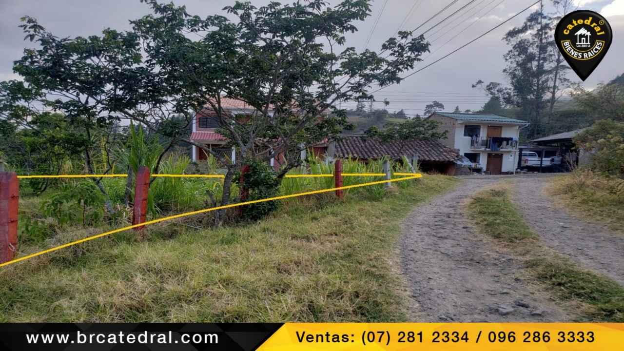 Sitio Solar Terreno de Venta en Cuenca Ecuador sector Giron el Chorro